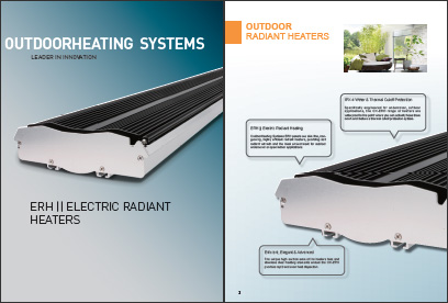 electric strip heaters, ERH radiant heaers